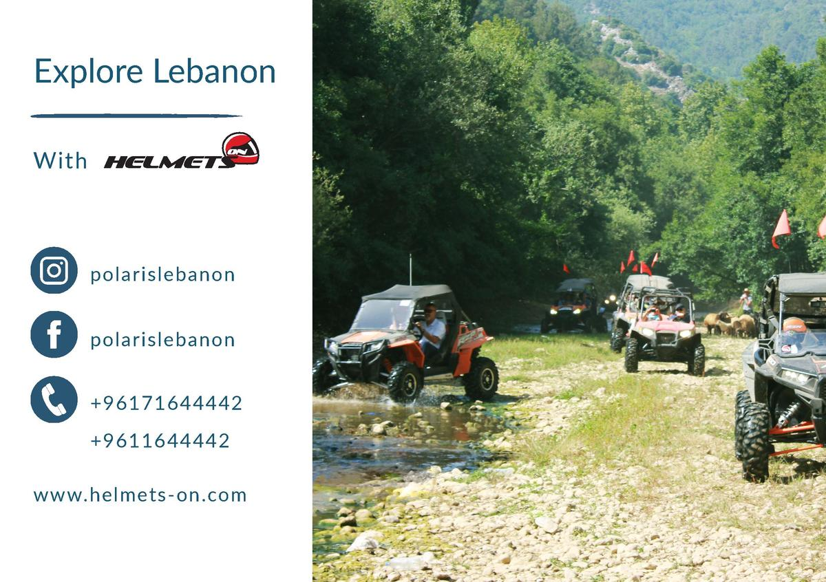 Explore Lebanon With  polarislebanon polarislebanon  96171644442  9611644442 www.helmets-on.com